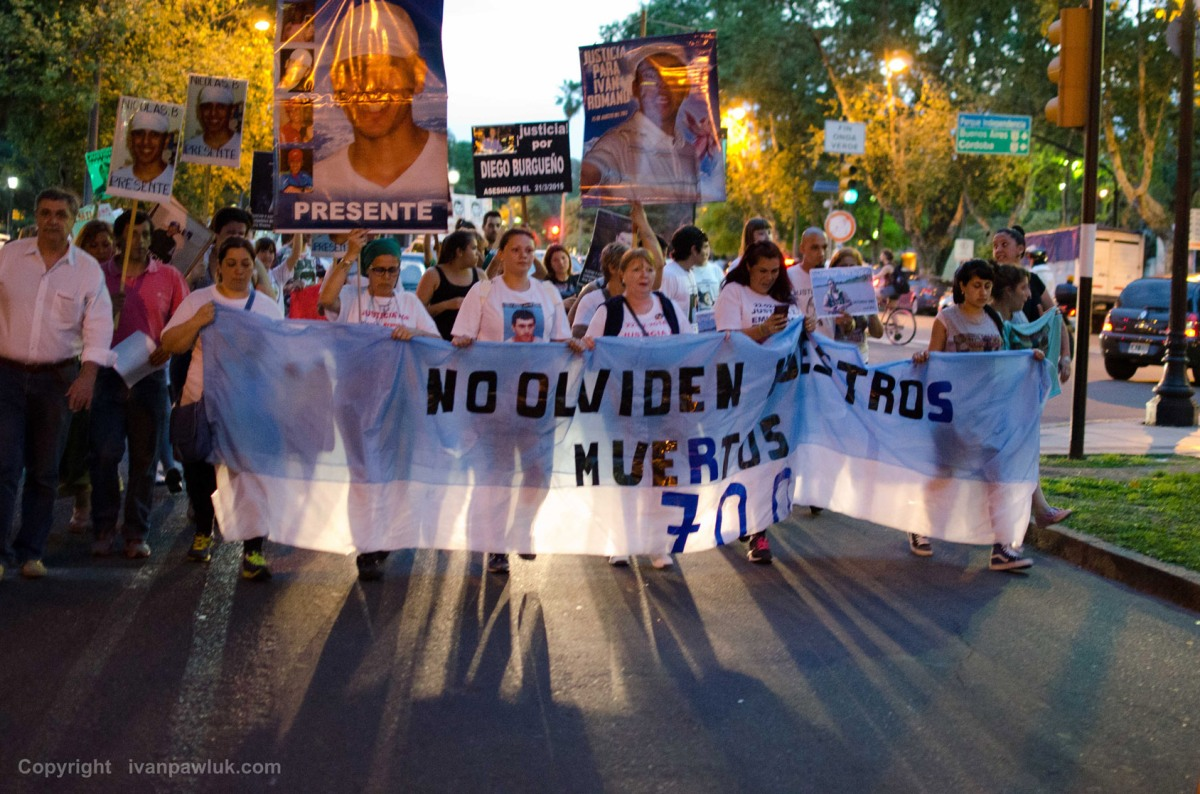 MARCHA pedido de Justicia, familiares de víctimas de la violencia en Rosario